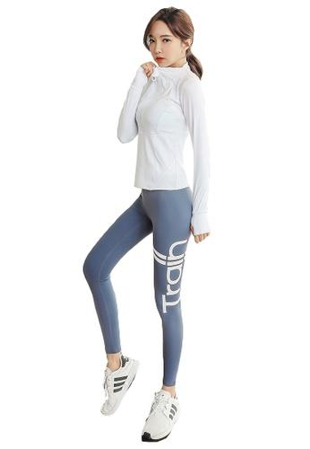 YG Fitness multi (4PCS)Sports Fitness Yoga Suit (Sports Bra+Pants+Long T+Jacket) 804E1US64D3A69GS_1