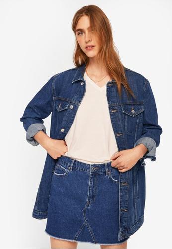 Mango blue Denim Organic Cotton Skirt DC010AA8C3EA40GS_1