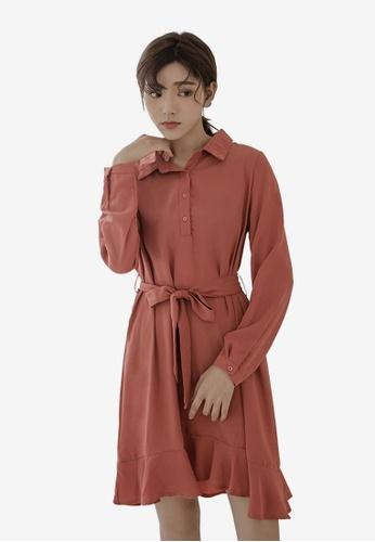 cebea279e244e Shop Tokichoi Frill Hem Shirt Dress Online on ZALORA Philippines