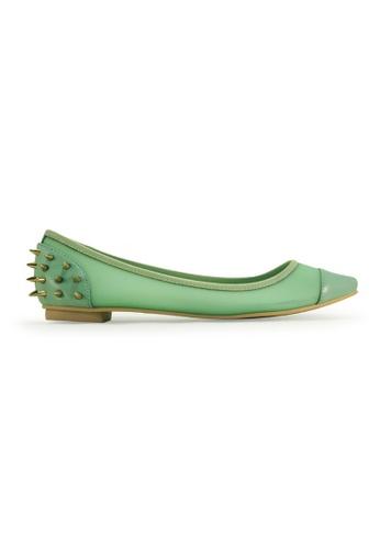 Gripz green Poke Pointy Toe Spiky Flats GR357SH73ISGSG_1
