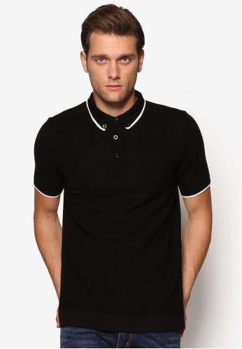 撞色滾邊暗紋Pesprit 折扣OLO 衫, 服飾, Polo衫