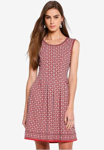 Max Studio 紅色 無袖 褶飾洋裝 72A6CAAC8DE675GS_1