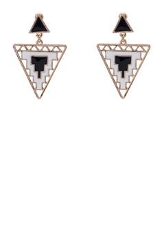 Tiered Triangular Tribal Earrings
