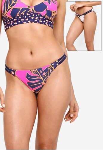 Maaji multi Reversible Flowering Split Signature Cut Bikini Bottom 29052USFA870D1GS_1