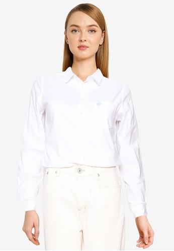 Springfield white Oxford Shirt D2871AA1BBA0D7GS_1