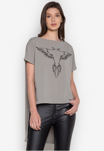 NEW ESSENTIALS grey John Herrera Printed Mullet Shirt NE239AA0JD2WPH_1