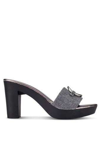 DMK grey Slip On Platform Heeled Sandals DM860SH0RG27MY_1