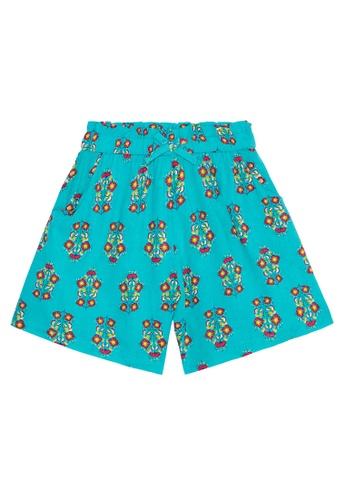 Du Pareil Au Même (DPAM) blue Print Shorts CF85AKA378F711GS_1