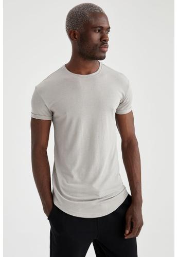 DeFacto grey Man Knitted T-Shirt 1C547AA780BA0CGS_1