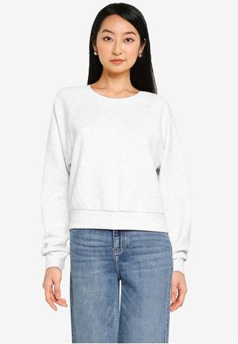ONLY grey Joy Long Sleeve Sweatshirt 53941AA6E7A2EEGS_1