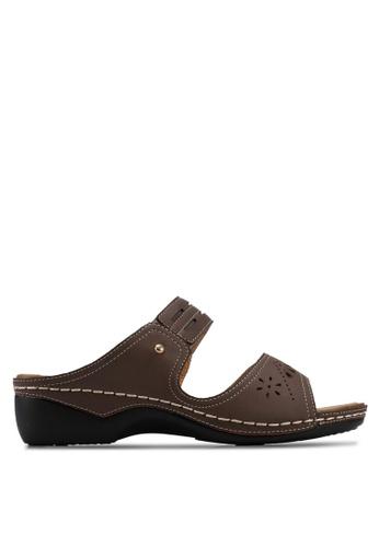 Alfio Raldo brown Strappy Sandals DC186SH9419C9CGS_1