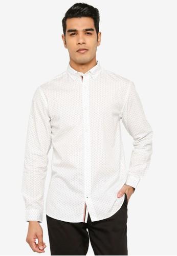 Jack & Jones white Thomas Detail Shirt AD7EDAAAE97050GS_1