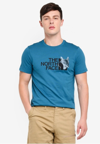 The North Face blue TNF M S/S National Park Tee - Ap Blue Coral 4374AAA00031B0GS_1
