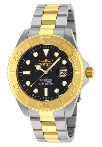 Invicta gold Invicta Pro Diver Men 47mm Case Steel, Gold Stainless Steel Strap Black Dial Quartz Watch 15180 w/ Cap IN968AC0F9QQSG_1
