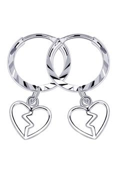 Broken Heart Loop Dangling Earring