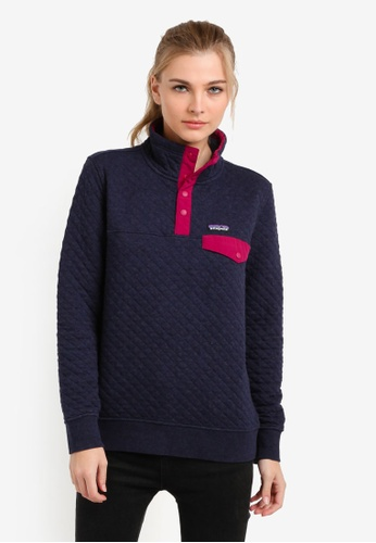 Patagonia navy Cotton Quilt Snap-T Pullover PA549AA0RQEEMY_1