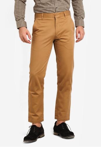Kent & Crew 褐色 Cotton Pants KE579AA0RJRWMY_1