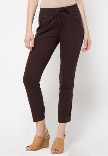 TRISET brown Drawstring Pants 023 TR969AA08FXRID_1