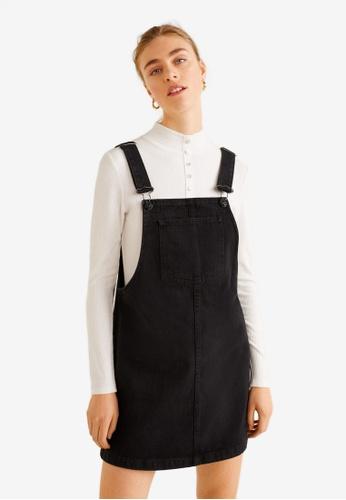 4a4b33001a Shop MANGO Black Denim Pinafore Dress Online on ZALORA Philippines