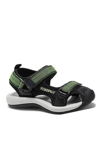 Twenty Eight Shoes 綠色 VANSA 拼色涼鞋 VSK-S007 AD56FKSBD49393GS_1
