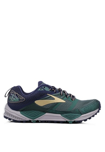 Brooks green Cascadia 12 Shoes E2CF6SH1AA0663GS_1