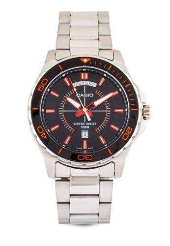 MTD-1076D-1Aesprit 台灣4VDF 經典不銹鋼圓錶, 錶類, 飾品配件