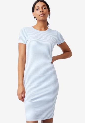 Cotton On blue Essential Short Sleeve Mini Dress E55EDAAF6FB53EGS_1