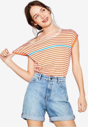 ESPRIT orange Short Sleeve T-Shirt ES374AA59PXGMY_1