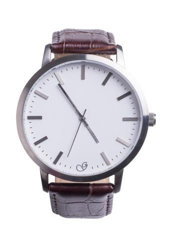 Splice Cufflinks Gaxs Adam Smith Brown Watch SP744AC16YMXSG_1