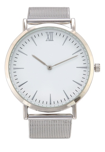 NUVEAU silver Round Face Silver White Mesh Strap Watch 82E9CACB94D13CGS_1