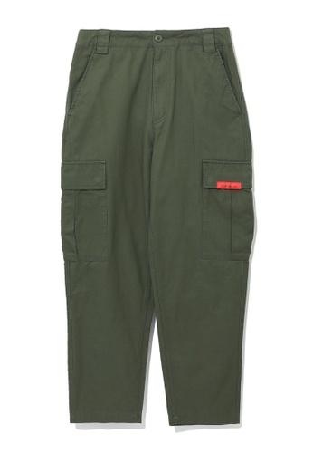 izzue green Cargo joggers C7FE1AAA947B52GS_1