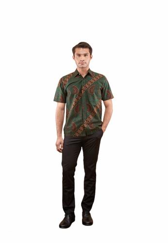 TUSCA green Eusoff Classic Batik Shirt 90434AABCFBE4DGS_1