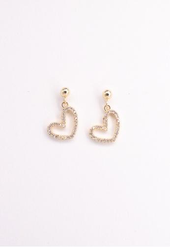 Leline Style gold Heart Crystals Earrings 6D69BAC03B394DGS_1
