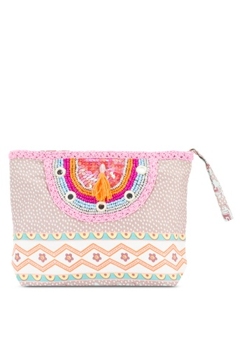 Sulima pink Tassel Pink Clutch SU915AC56XVJMY_1