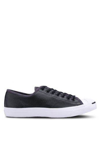 Converse black Jack Purcell Jack Leather Campus Colors Ox Sneakers CECCBSH19795D6GS_1