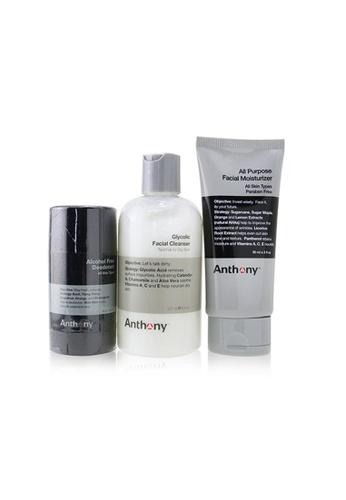 ANTHONY ANTHONY - Basic Kit With Alcohol Free Deodorant: Cleanser 237ml + Moisturizer 90ml + Deodorant 70g 3pcs 17918BED28F57BGS_1