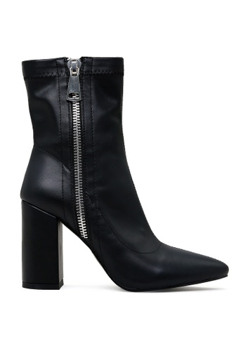 London Rag black Pointed Toe High Ankle Boot AFD64SHC1711D8GS_1
