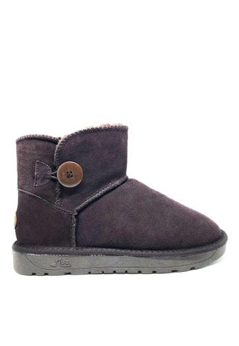 Twenty Eight Shoes 真皮短桶圓鈕雪地靴UUD04 B7942SHFCADF4DGS_1