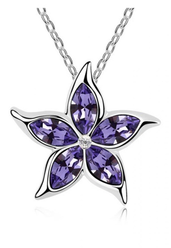 LOVENGIFTS purple Spring Flower Pendant Necklace 74693ACE0746BDGS_1