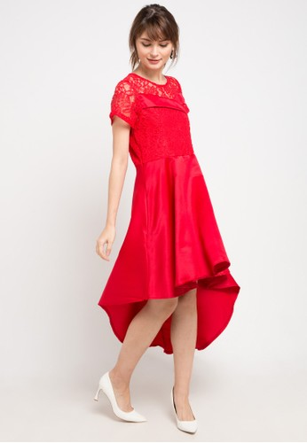 FAME red High Low Dress 9F4F4AA141B2BCGS_1