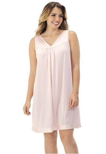 Naturana pink Sleeveless Short Gown 0919DAAFBE36E6GS_1