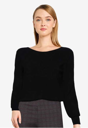 French Connection black Juniper Knit Boat Neck Jumper 68C8DAA180F02AGS_1