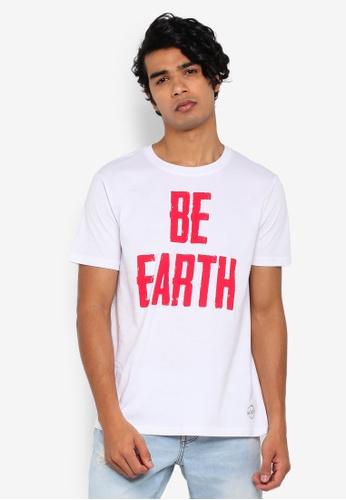 OVS 白色 印花T恤 1E624AA5CB6FBDGS_1