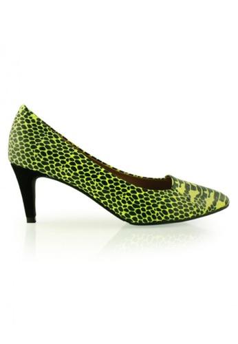 Gripz green Vsnake Pointed Calf Leather Heels GR357SH29IHESG_1