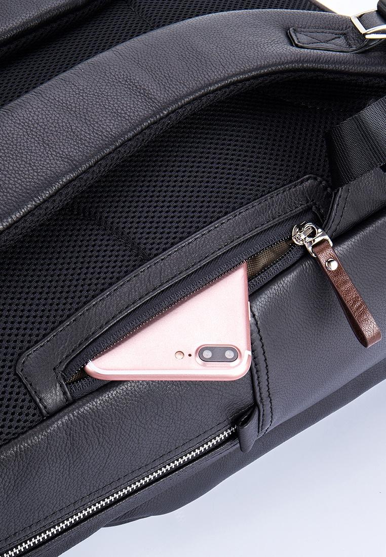 Backpack Black Mens Cow Laptop Leather Business Enzodesign 15 Fjallraven Kanken 15ampquot