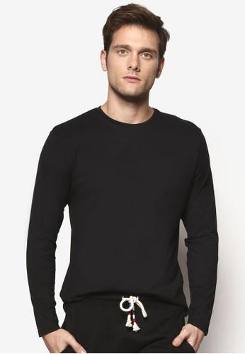 簡約圓領長袖衫, esprit china服飾, T恤
