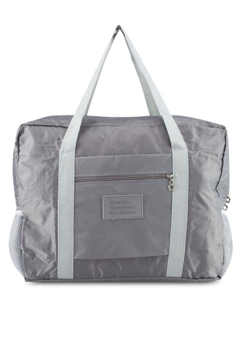 Bagstationz grey Travel Bag With Luggage Carrier Holder 17993AC85D49F2GS_1