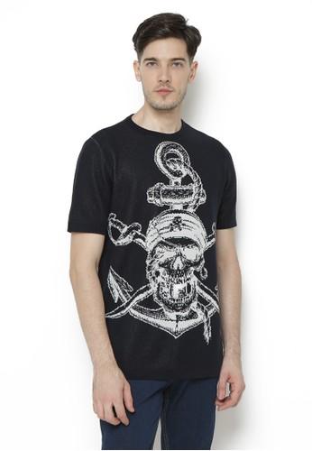 Knitwork black Knitwork Jolly Roger Black T-Shirt B2B2FAA01D0429GS_1
