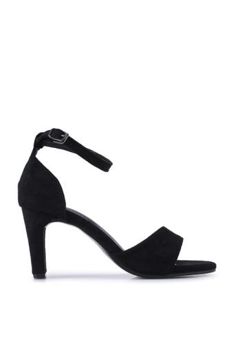 Twenty Two black Garnet Open Toe Block Heels 82B58SH696E924GS_1