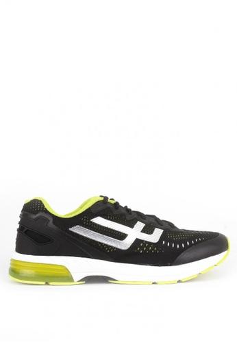 World Balance black Freedom Run Sneakers 9B684SH62C3C49GS_1